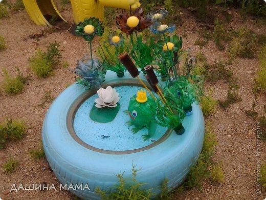 Лягушка для сада из пластиковых бутылок своими руками с пошаговым фото
