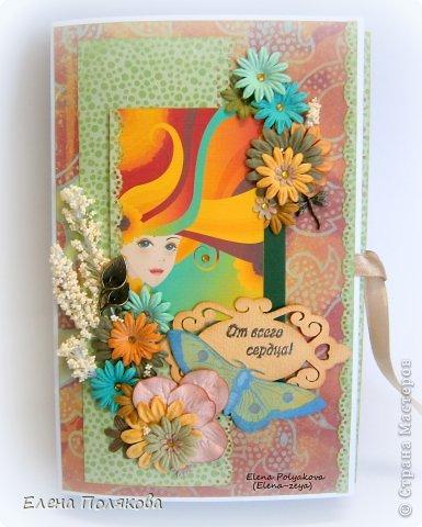Скрапбукинг Упаковка День рождения Ассамбляж Книжка с конфетками Бумага фото 1.