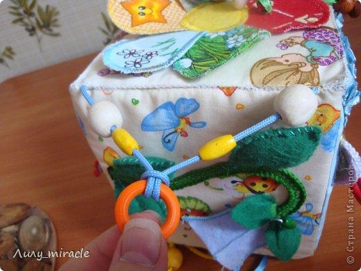 Игрушка Раннее развитие Моделирование конструирование Шитьё Развивающий кубик Бусины Ленты Ткань фото 28