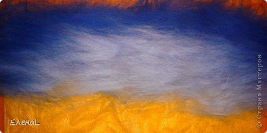 Картина панно рисунок Мастер-класс Валяние фильцевание Рисование и живопись Картина из шерсти Лето Шерсть фото 6