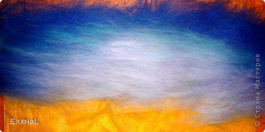 Картина панно рисунок Мастер-класс Валяние фильцевание Рисование и живопись Картина из шерсти Лето Шерсть фото 7