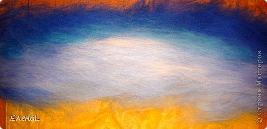 Картина панно рисунок Мастер-класс Валяние фильцевание Рисование и живопись Картина из шерсти Лето Шерсть фото 8