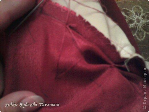 Мастер-класс Шитьё Круглая подушка в стиле буфы Ткань фото 5