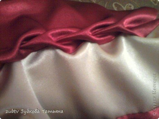 Мастер-класс Шитьё Круглая подушка в стиле буфы Ткань фото 7