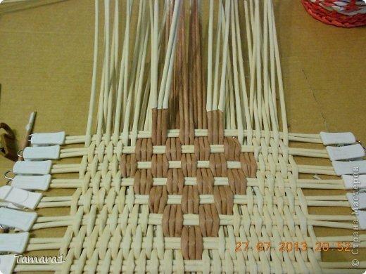 Мастер-класс Плетение Дебют МК крышки Бумага газетная Трубочки бумажные фото 5