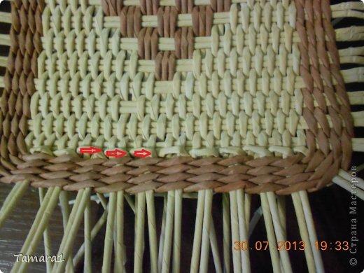 Мастер-класс Плетение Дебют МК крышки Бумага газетная Трубочки бумажные фото 12