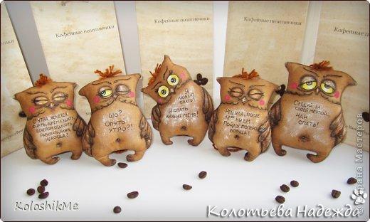 Игрушка Шитьё Кофейные позитивчики Совушки  фото 1