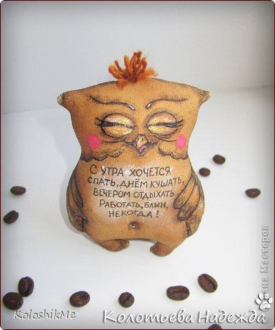 Игрушка Шитьё Кофейные позитивчики Совушки  фото 5