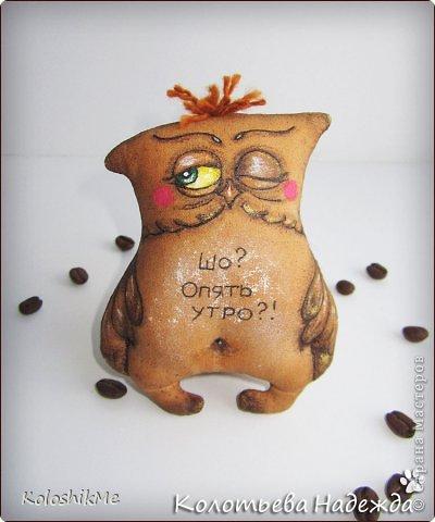 Игрушка Шитьё Кофейные позитивчики Совушки  фото 9