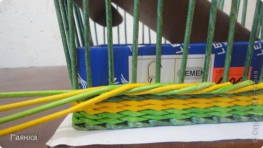 Мастер-класс Плетение Цветная верёвочка из 4 трубочек Бумага фото 7