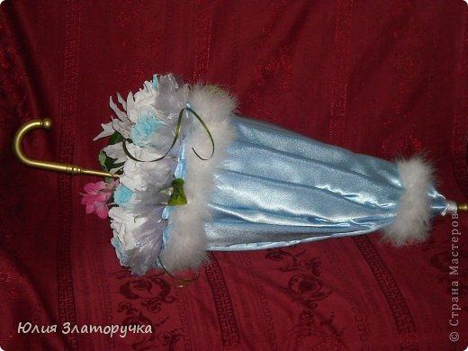 насмотрелась я в СМ зонтов,и решилась на своё исполнение. Прошу любить и жаловать!))) фото 1