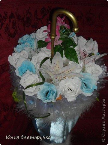 насмотрелась я в СМ зонтов,и решилась на своё исполнение. Прошу любить и жаловать!))) фото 7