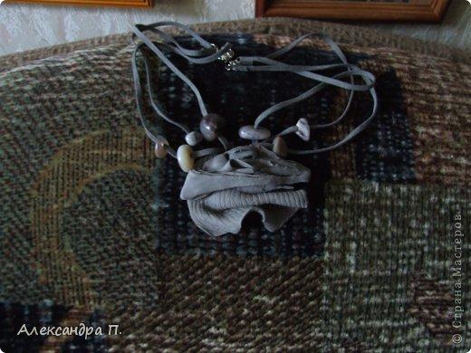 Украшение на шейку и браслет. Пробовала технику. фото 4