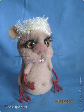 Крыска и хомячок сшиты из флиса, сделаны утяжки, тонированы пастелью. фото 2