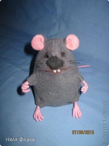 Крыска и хомячок сшиты из флиса, сделаны утяжки, тонированы пастелью. фото 3
