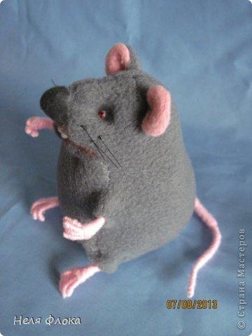 Крыска и хомячок сшиты из флиса, сделаны утяжки, тонированы пастелью. фото 4