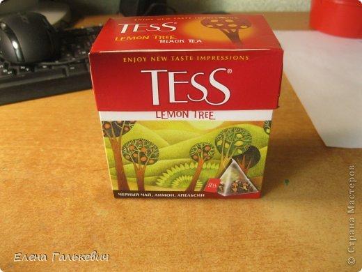 Органайзер из чайной коробки фото 2