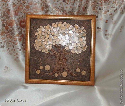 Картина из монет своими руками фото