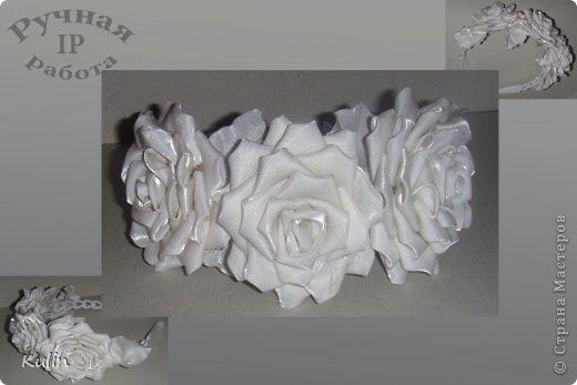 Ободок с цветами из фоамирана фото 2