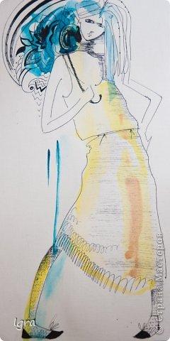 Компьютерная живопись с помощью графического планшета. Эскизы одежды на тему работ моего любимого художника Климта. фото 8