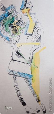 Компьютерная живопись с помощью графического планшета. Эскизы одежды на тему работ моего любимого художника Климта. фото 9