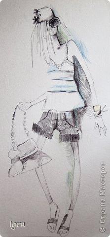 Компьютерная живопись с помощью графического планшета. Эскизы одежды на тему работ моего любимого художника Климта. фото 5