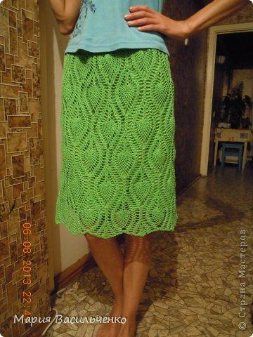 крючком летняя юбка ананас