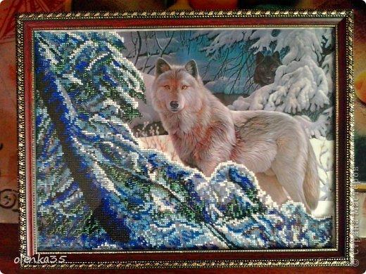 Картина панно рисунок Вышивка Вышивка бисером частичная В лесу Бисер фото 1.