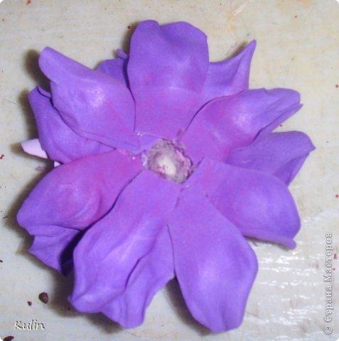 Вот такой примерно цветочек должен получиться, размер в диаметре 7 см фото 22