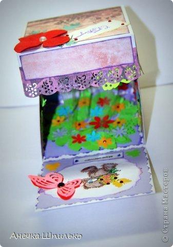 Привет!!! Такую простенькую коробочку сделала для девчушки на 12 лет.(Первый раз делаю Magic box) фото 7