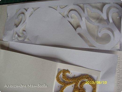 Мастер-класс Открытка Скрапбукинг Свадьба Моделирование конструирование Открытка свадебная в коробочке Бумага Бусинки Ленты фото 9