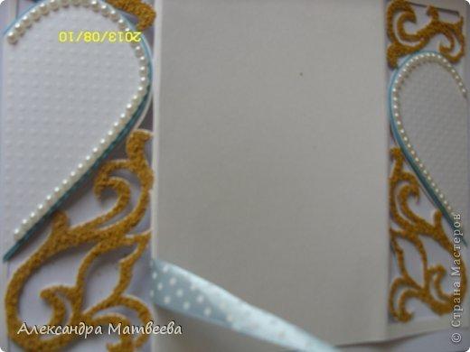 Мастер-класс Открытка Скрапбукинг Свадьба Моделирование конструирование Открытка свадебная в коробочке Бумага Бусинки Ленты фото 11