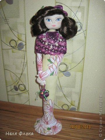 Леди - текстильная статуэтка по мотивам работ Ирины Устич фото 2