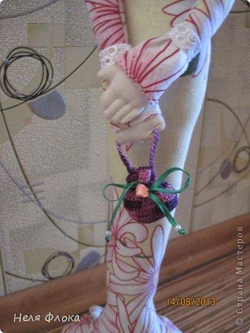 Леди - текстильная статуэтка по мотивам работ Ирины Устич фото 4