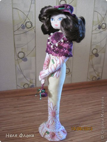 Леди - текстильная статуэтка по мотивам работ Ирины Устич фото 5