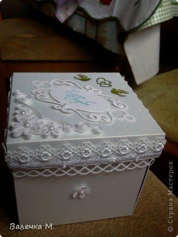 Скрапбукинг Упаковка Свадьба Ассамбляж Квиллинг Коробочка на свадьбу Бумажные полосы Бусинки Картон Клей.