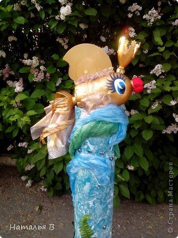 Скульптура Моделирование конструирование Золотая рыбка Бутылки пластиковые Материал оберточный фото 1.