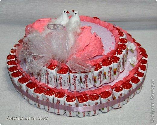 Придумался мне вот такой тортик на свадьбу ,к открыточке прибавление (https://stranamasterov.ru/node/616005). фото 5