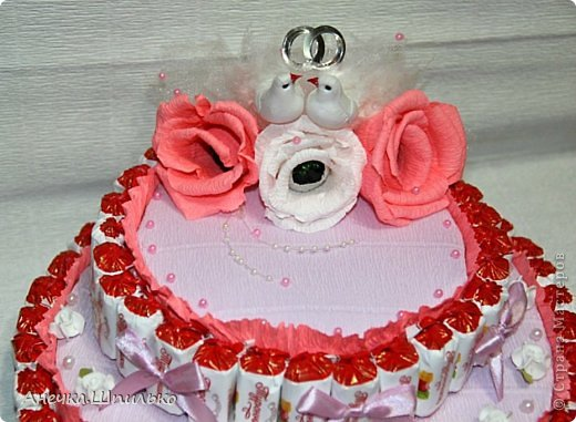 Придумался мне вот такой тортик на свадьбу ,к открыточке прибавление (https://stranamasterov.ru/node/616005). фото 3
