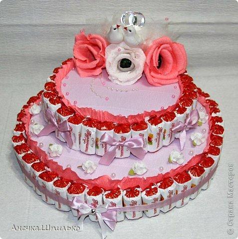 Придумался мне вот такой тортик на свадьбу ,к открыточке прибавление (https://stranamasterov.ru/node/616005). фото 1