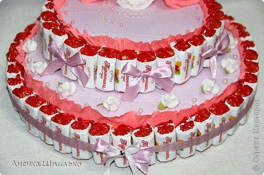 Придумался мне вот такой тортик на свадьбу ,к открыточке прибавление (https://stranamasterov.ru/node/616005). фото 4