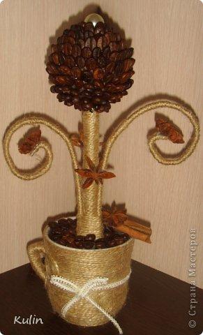 Кофейное сердце с розами-сердечный подарок... фото 4