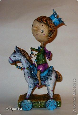Мастер-класс 23 февраля Папье-маше Принц на лошадке мастер-класс Бумага фото 1