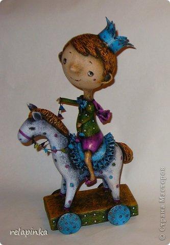 Мастер-класс Поделка изделие 23 февраля Папье-маше Принц на лошадке мастер-класс Бумага фото 43