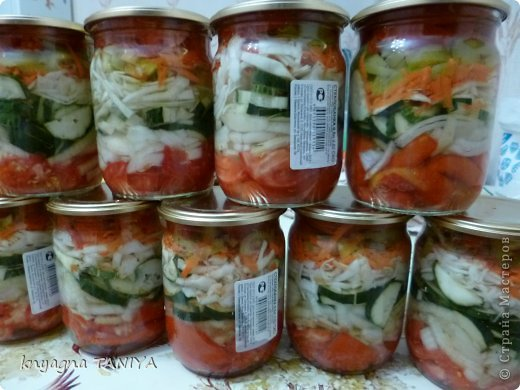 Кулинария Мастер-класс Рецепт кулинарный Хрустящий салатик закрываем на зиму Банки стеклянные Овощи фрукты ягоды фото 1