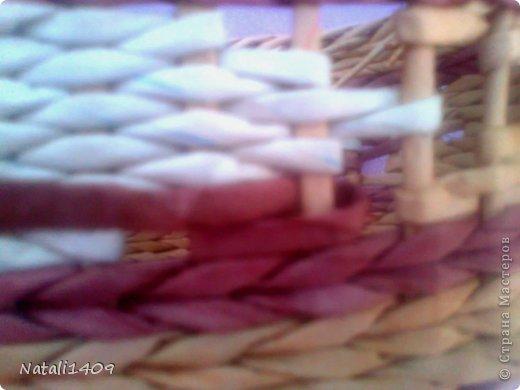 Мастер-класс Поделка изделие Декупаж Плетение ФИЛЕЙНО-СИТЦЕВОЕ плетенье Бумага газетная Салфетки Трубочки бумажные фото 15