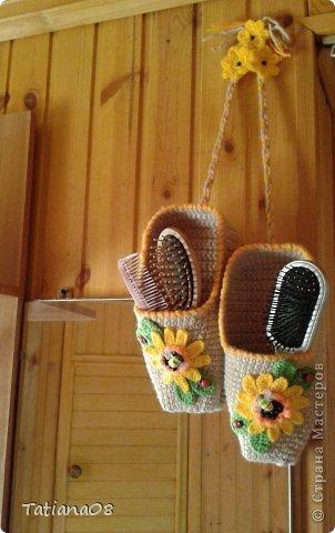 Вот такие лапти для расчесок связала своей маме в подарок. фото 20