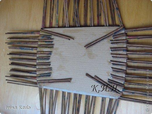 Доброго времени суток. Хочу поделится новой моей работой в плетении. Вот такая вот корзина. фото 9