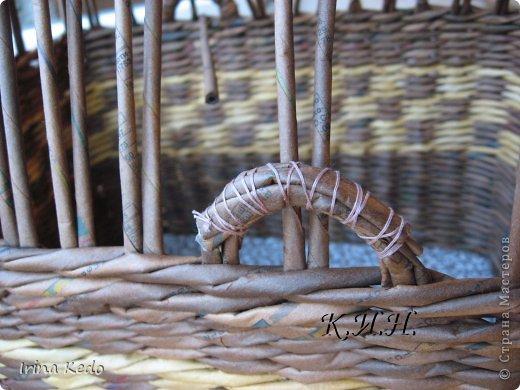 Доброго времени суток. Хочу поделится новой моей работой в плетении. Вот такая вот корзина. фото 11