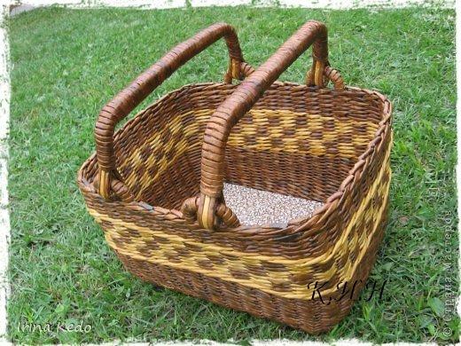 Доброго времени суток. Хочу поделится новой моей работой в плетении. Вот такая вот корзина. фото 6